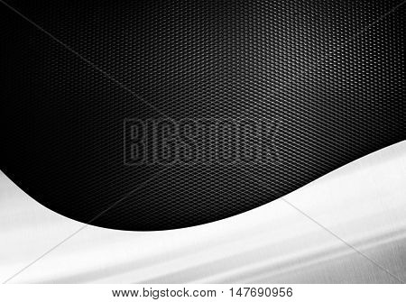 black metal mesh with curve pattern background
