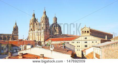 Panoramic view of Salamanca, Spain