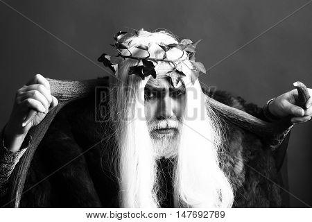 Zeus Man With Antlers