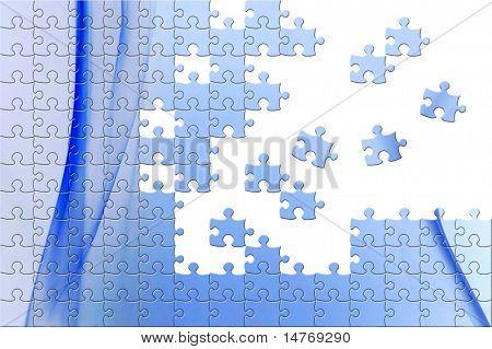 Puzzle fondo humo azul