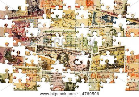 Puzzle Money background