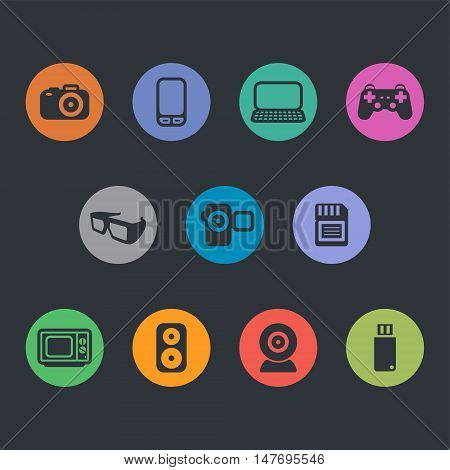 Flat Design and Development Vector Icons. vector illustration