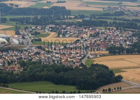 aerial view of Dachelhofen Schwandorf in bavaria