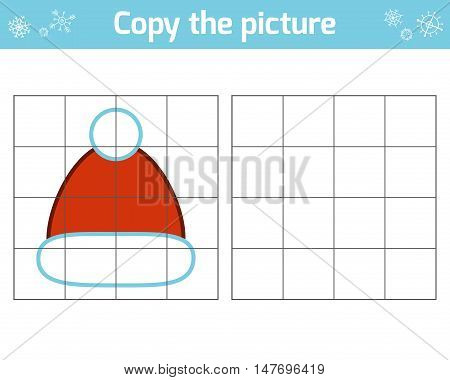 Copy the picture, education game for children, Santa hat