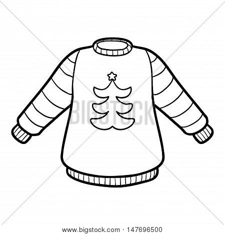 Coloring book for children, winter Christmas Pullover