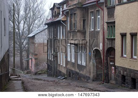 Old german street in the Gvardeysk (Tapiau). Kaliningrad region. Rusia.