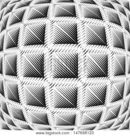 Design Warped Square Convex Pattern