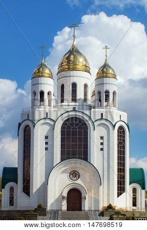 Cathedral of the Orthodox Church in Victory Square in the center of Kaliningrad. Until 1945, the city was a part of Germany and was called Koenigsberg. After the Second World War as a part of Russia and renamed Kaliningrad.