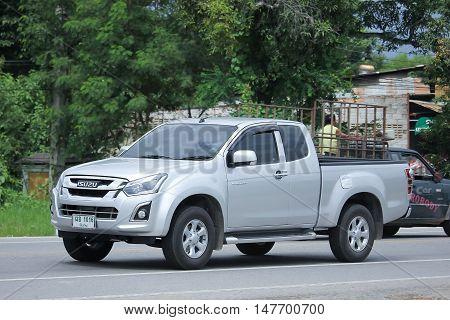 CHIANGMAI, THAILAND - AUGUST 18, 2016: Private Isuzu Dmax Pickup Truck. On road no.1001 8 km from Chiangmai city.