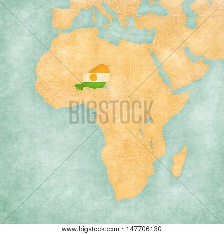 Map Of Africa - Niger