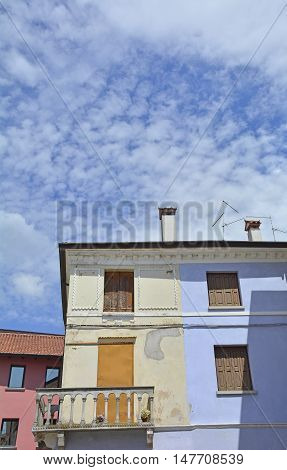 An old historic building in the small north east Italian coastal town of Marano Lagunare.