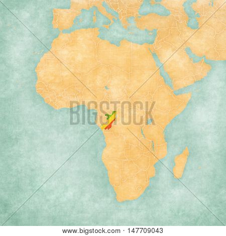 Map Of Africa - Republic Of The Congo