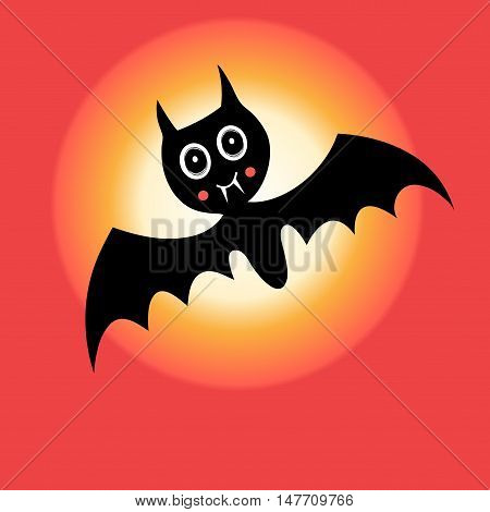 Cheerful graphics mystery vector bat for Halloween