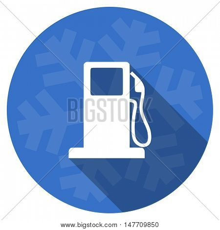 petrol blue flat design christmas winter web icon with snowflake