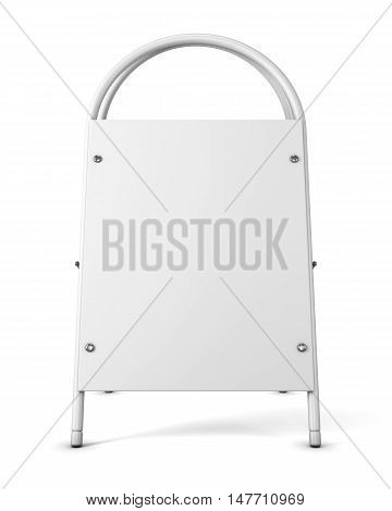 Blank Advertising Stand On A White Background. Empty Template Promotional Stand For Your Design. Bla