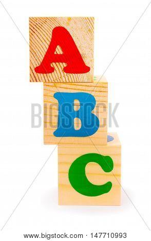 Alphabet letter ABC blocks for kids isolated on white