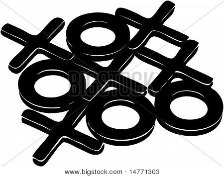 tic tac toe (vector)