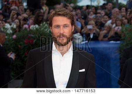 Luke Bracey  at the premiere of Hacksaw Ridge at the 2016 Venice Film Festival. September 4, 2016  Venice, Italy