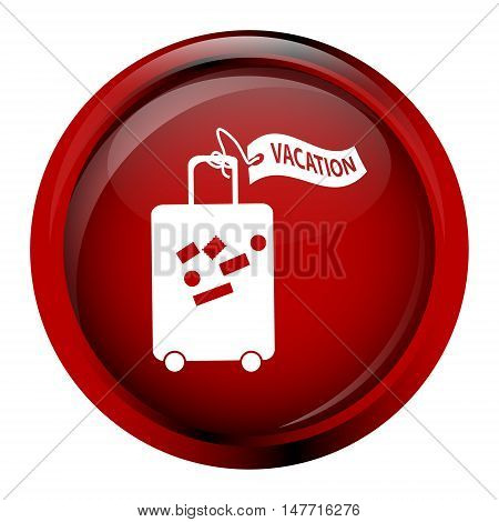 Luggage with tag icon travel symbol concept vector illustration