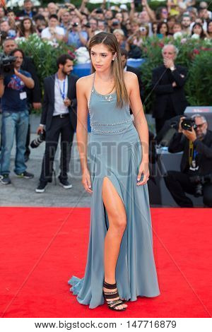 Sistine Rose Stallone  at the premiere of Hacksaw Ridge at the 2016 Venice Film Festival. September 4, 2016  Venice, Italy