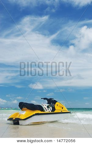 Jet Ski on a tropical beach