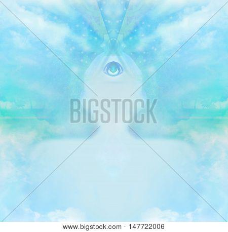 man with third eye psychic supernatural senses , raster