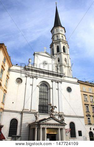 St. Michael's Church in Vienna - Austria.