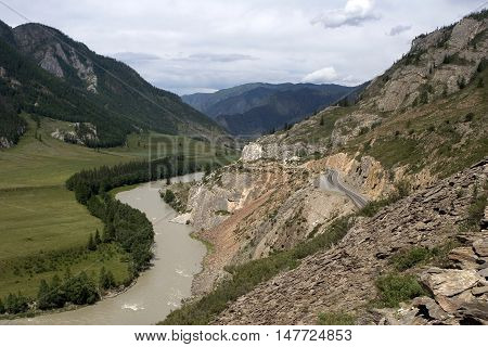 Valley of river Chuya in Altai mountains, Chibit, Russia