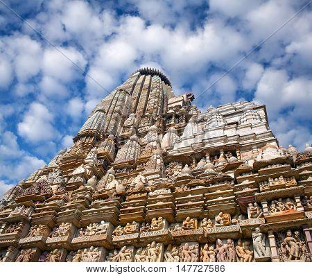 Temple in Khajuraho, Chhatarpur district of Madhya Pradesh State, India