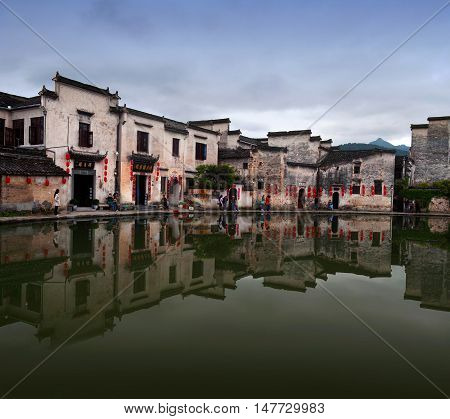 Hongcun Village In Anhui Province, China