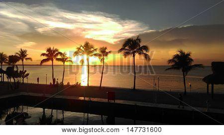 photo of the sunset in Key Largo Florida