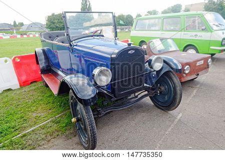 Kharkiv Ukraine - May 22 2016: Chevrolet retro car manufactured in 1921 exhibited at the festival of vintage cars Kharkiv Retro Rally - 2016 in Kharkiv Ukraine on May 22 2016