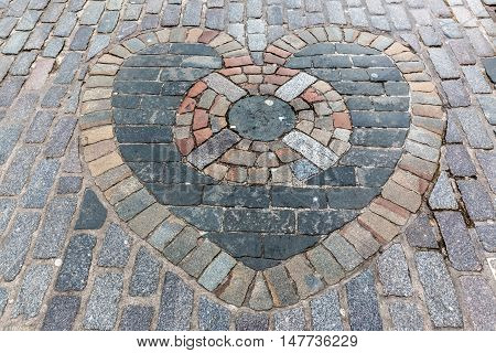 Heart Of Midlothian Mosaic In Edinburgh