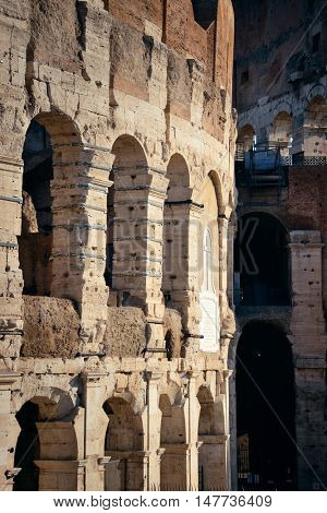 Colosseum closeup in Rome Italy