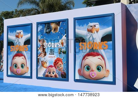 LOS ANGELES - SEP 17:  Storks Poster at the