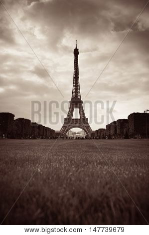 Eiffel Tower as the famous landmark in Paris, France.