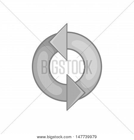 Refresh icon in black monochrome style on a white background vector illustration