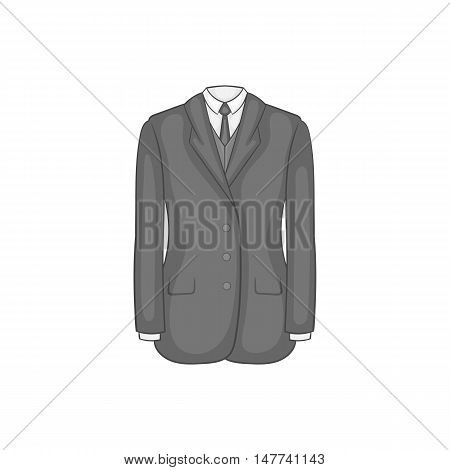 Man suit with tie icon in black monochrome style on a white background vector illustration
