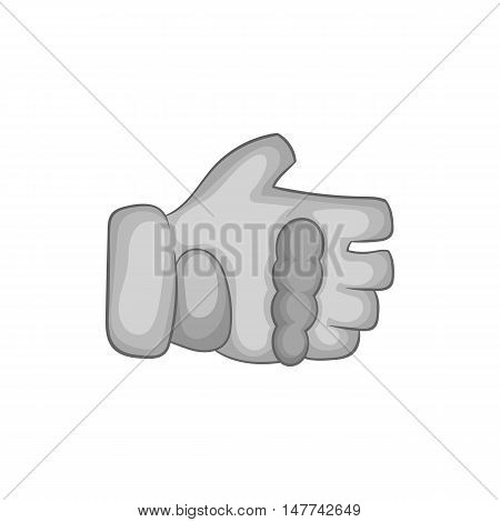 Paintball glove icon in black monochrome style on a white background vector illustration
