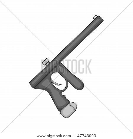 Paintball gun icon in black monochrome style on a white background vector illustration