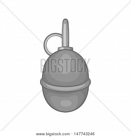 Hand paintball grenade icon in black monochrome style on a white background vector illustration
