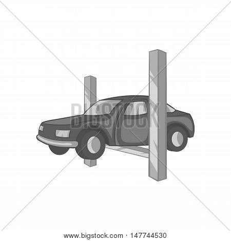 Repair machine icon in black monochrome style isolated on white background. Garage symbol vector illustration