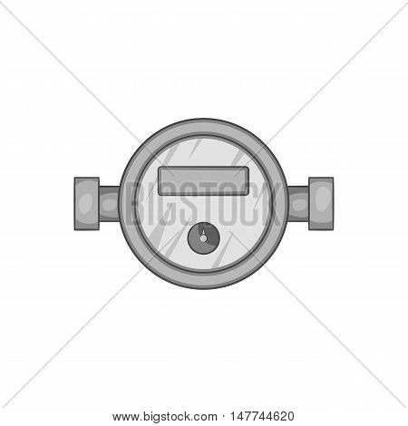 Water meter icon in black monochrome style isolated on white background. Measurement symbol vector illustration