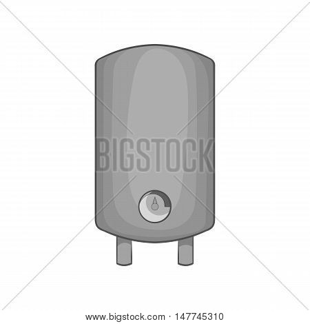 Water heater icon in black monochrome style isolated on white background. Equipment symbol vector illustration