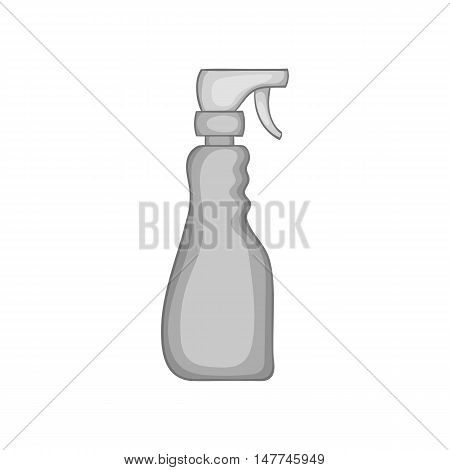 Cleaning spray icon in black monochrome style isolated on white background. House work symbol vector illustration