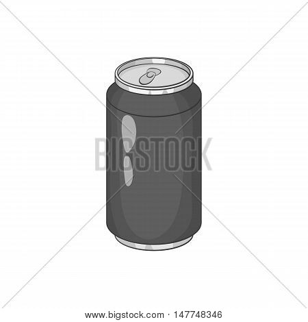 Carbonated drink icon in black monochrome style isolated on white background. Drink symbol vector illustration