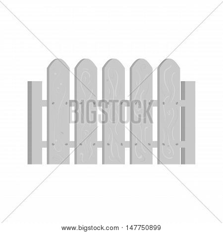 Wooden fence icon in black monochrome style isolated on white background. Fencing symbol vector illustration