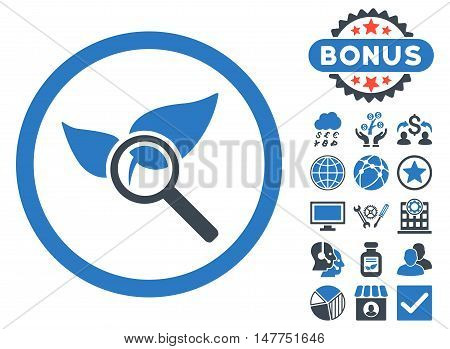 Explore Natural Drugs icon with bonus images. Vector illustration style is flat iconic bicolor symbols, smooth blue colors, white background.