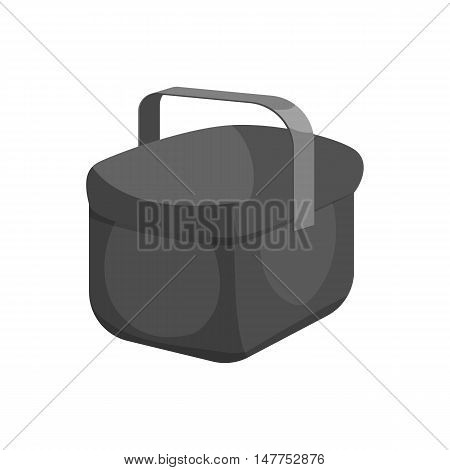 Cooler bag icon in black monochrome style isolated on white background vector illustration