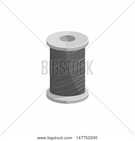 Coil fishing line icon in black monochrome style isolated on white background vector illustration